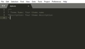 custom WordPress style CSS image