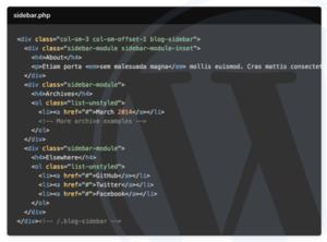 custom WordPress sidebar image