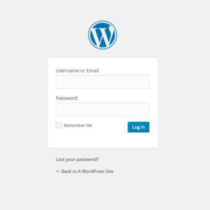 WordPress login page image